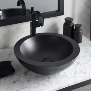 Morro NativeStone Bathroom Sink in Charcoal (NSL1705-C)