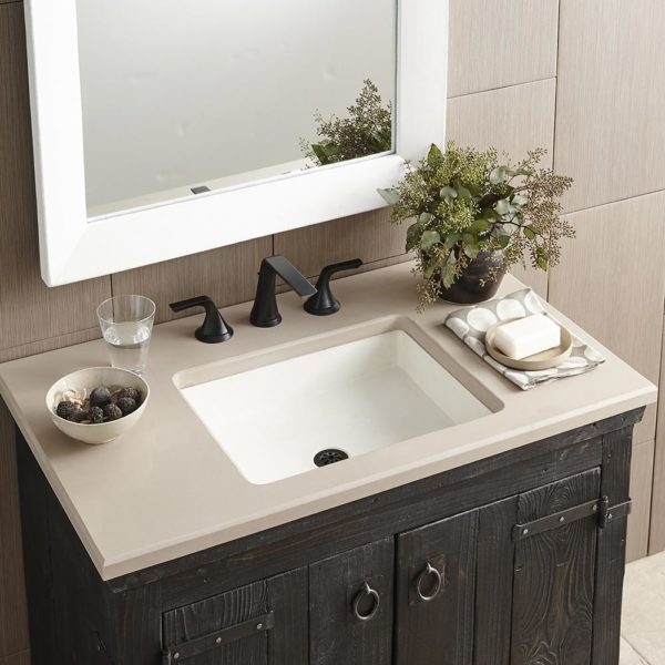 Nipomo Concrete Bathroom Sink in Pearl (NSL1915-P)