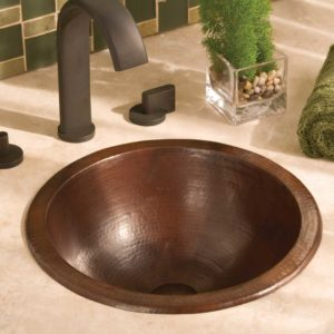 Paloma Copper Bathroom Sink in Antique (CPS259)