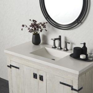 Palomar 48in Concrete Bathroom Sink in Pearl (NSVNT48-P)