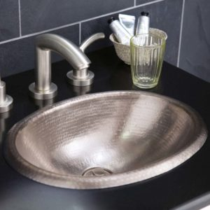 Rolled Baby Classic Copper Bathroom Sink in Brushed Nickel (CPS539)