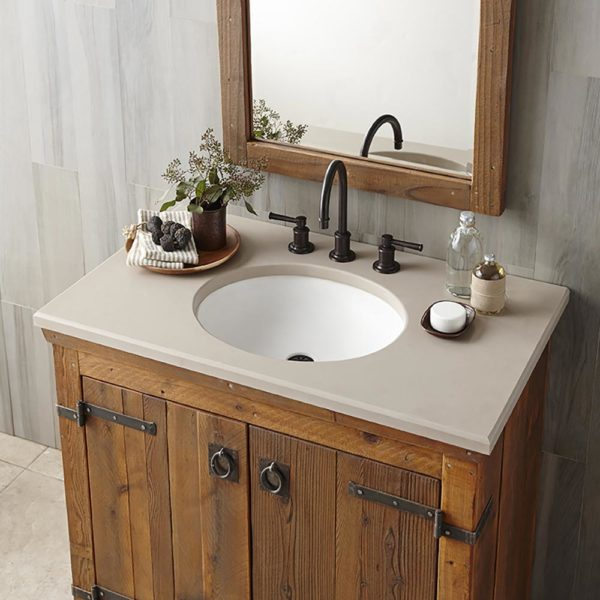 Tolosa Concrete Bathroom Sink in Pearl, Undermount (NSL1916-P)
