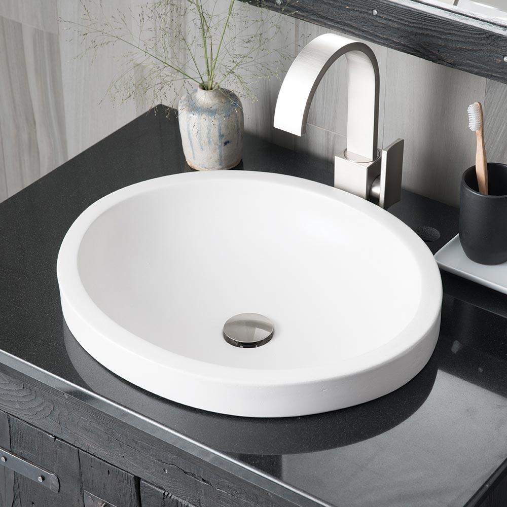 Tolosa Concrete Drop In Bathroom Sink Native Trails