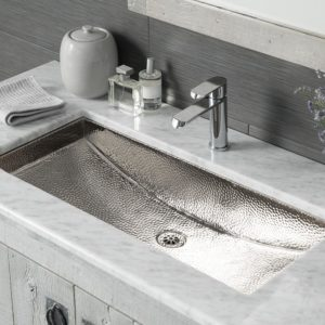 Trough 30 Copper Bathroom Sink in Polished Nickel (CPS800)