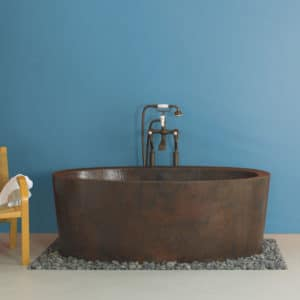 "Aspen 64"" Freestanding Copper Soaking Tub"