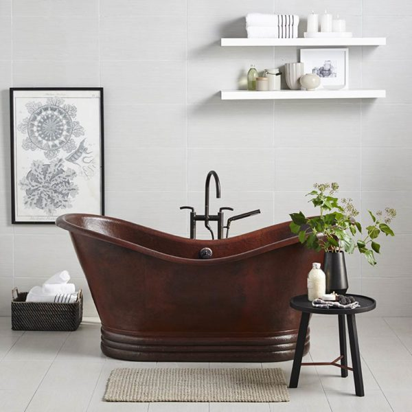 Aurora 72in Copper Bathtub in Antique (CPS902)