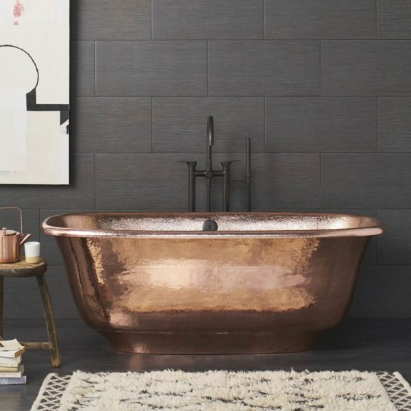 Santorini Copper Bathtub in Polished Copper (CPS944)