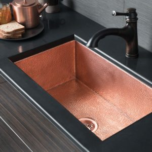 Cocina 30 Copper Kitchen Sink in Polished Copper (CPK493)