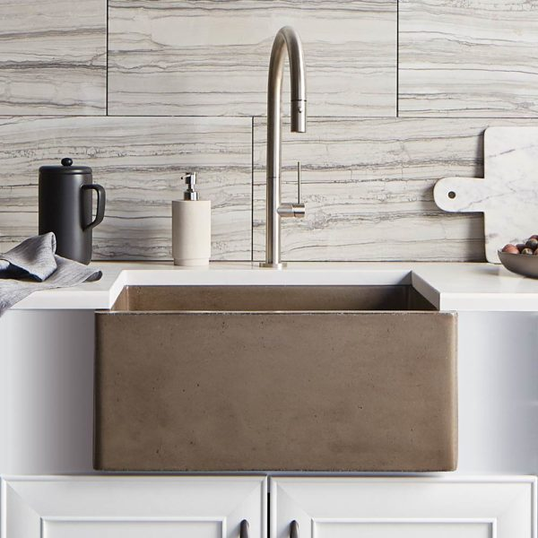 Farmhouse-2418-Concrete-Kitchen-Sink-Earth-NSK2418-E