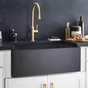 Farmhouse 3018 NativeStone Kitchen Sink in Charcoal (NSK3018-C)