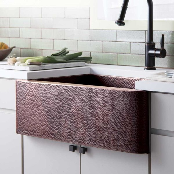 Farmhouse 33 Copper Kitchen Sink Antique (CPK273)