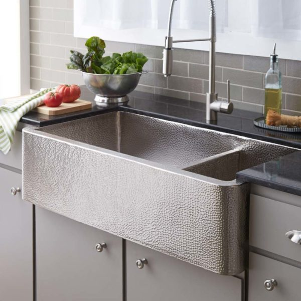 Farmhouse-Duet-Pro-Copper-Kitchen-Sink-Brushed-Nickel-CPK574