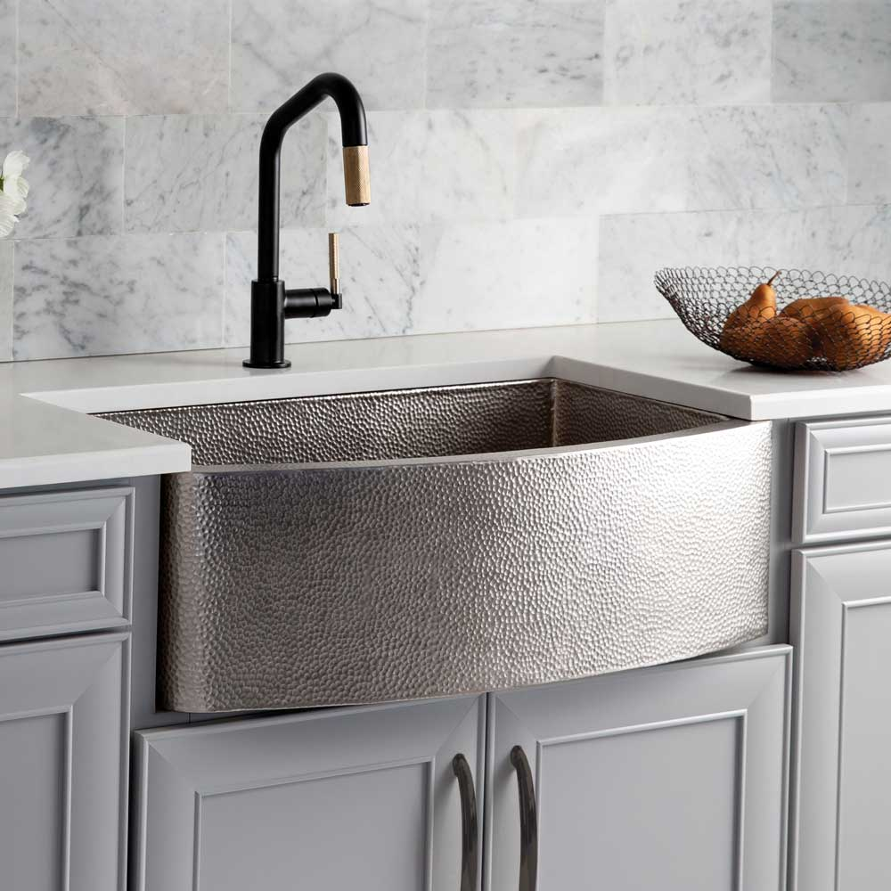 Rhapsody Copper Kitchen Sink in Brushed Nickel (CPK595)