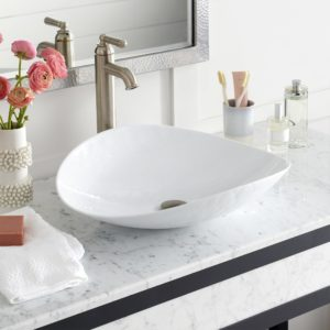 Sorrento Glass Vessel Sink in Bianco (MG207-BO)